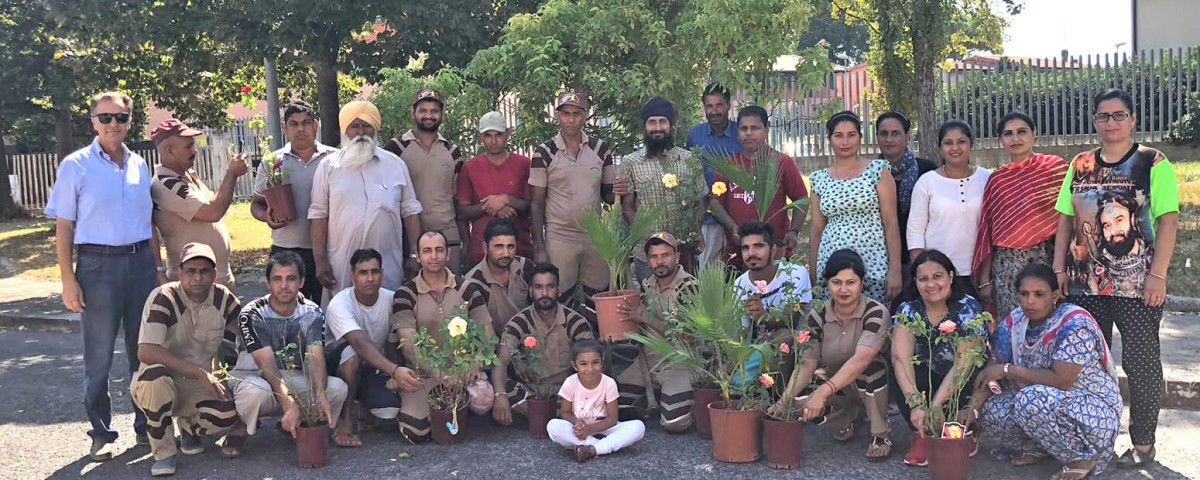 Shah Satnam Ji Green S welfare Force Wing volunteers plant trees in Terracina & Bergamo